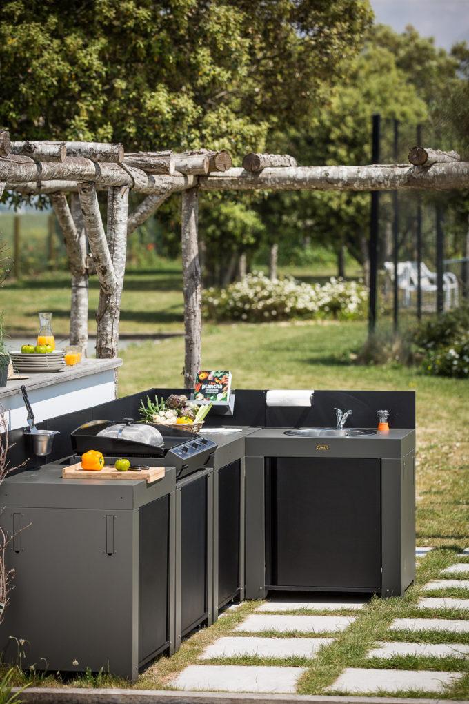 Modules de cuisine extérieure Gris Eno