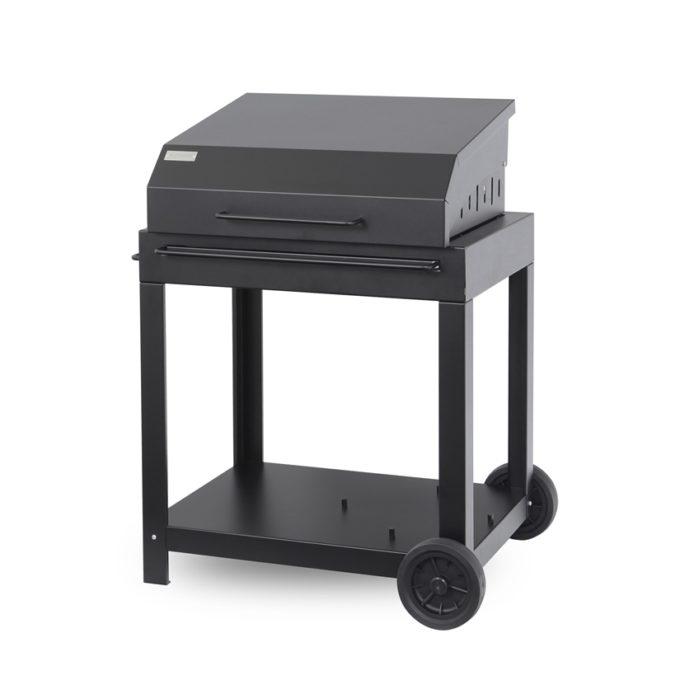 Plancha gaz Le Marquier Collection Exclusive Black Edition Amalia 360 chariot PCEI360E13C