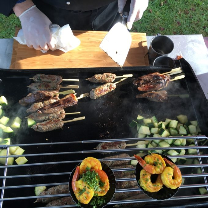 Repose-aliments coulissant spécial plancha Le Marquier de 36 à 63cm AGR57