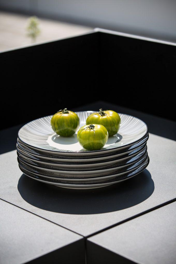 Modules de cuisine extérieure plateau d'angle Gris Eno
