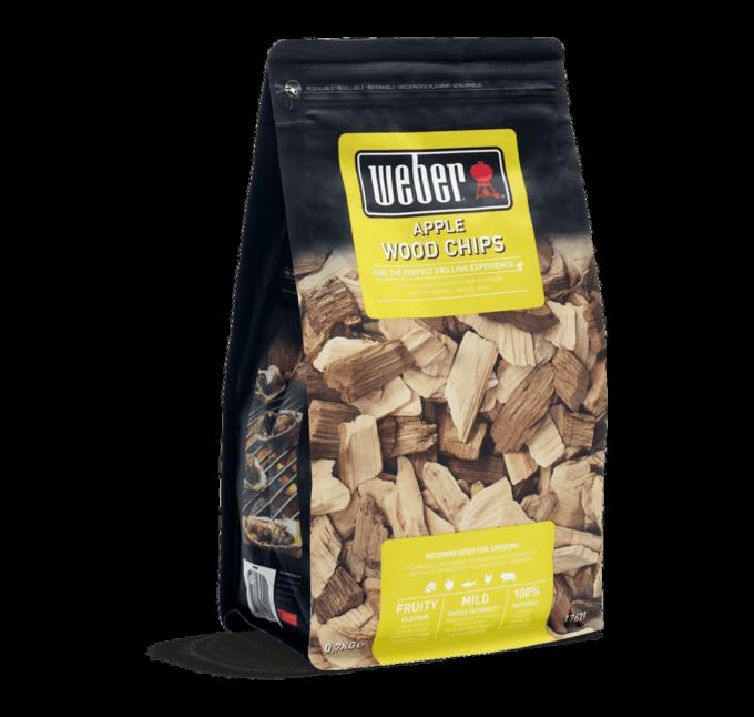 17621 Copeaux de bois de fumage Weber Pommier 0.7kg Apple Wood Chips