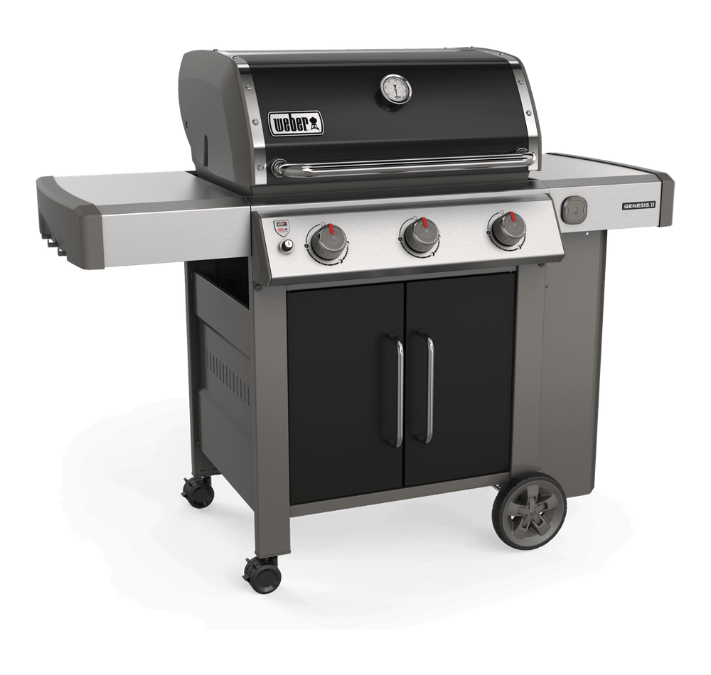 Barbecue A Gaz Ou Electrique barbecue à gaz weber - genesis ii e-415 gbs, noir