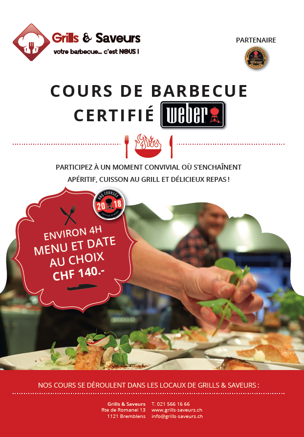 Brochure cours barbecue Grills & Saveurs