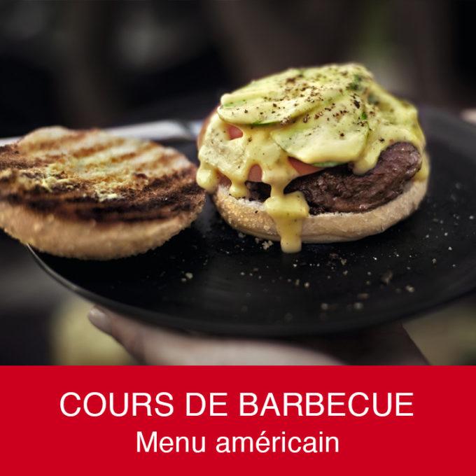 Cours barbecue menu américain hamburger