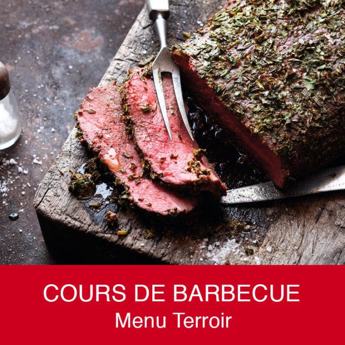 Cours de barbecue certifié Weber, Menu Terroir